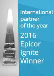 RheinBrücke Epicor Internation Partner of the year 2016
