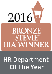 Bronze Stevie IBA winner HR department