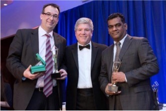 Vetri Selvan (CEO) and Dirk Meinker (CFO), RheinBrücke IT Consulting receiving the 